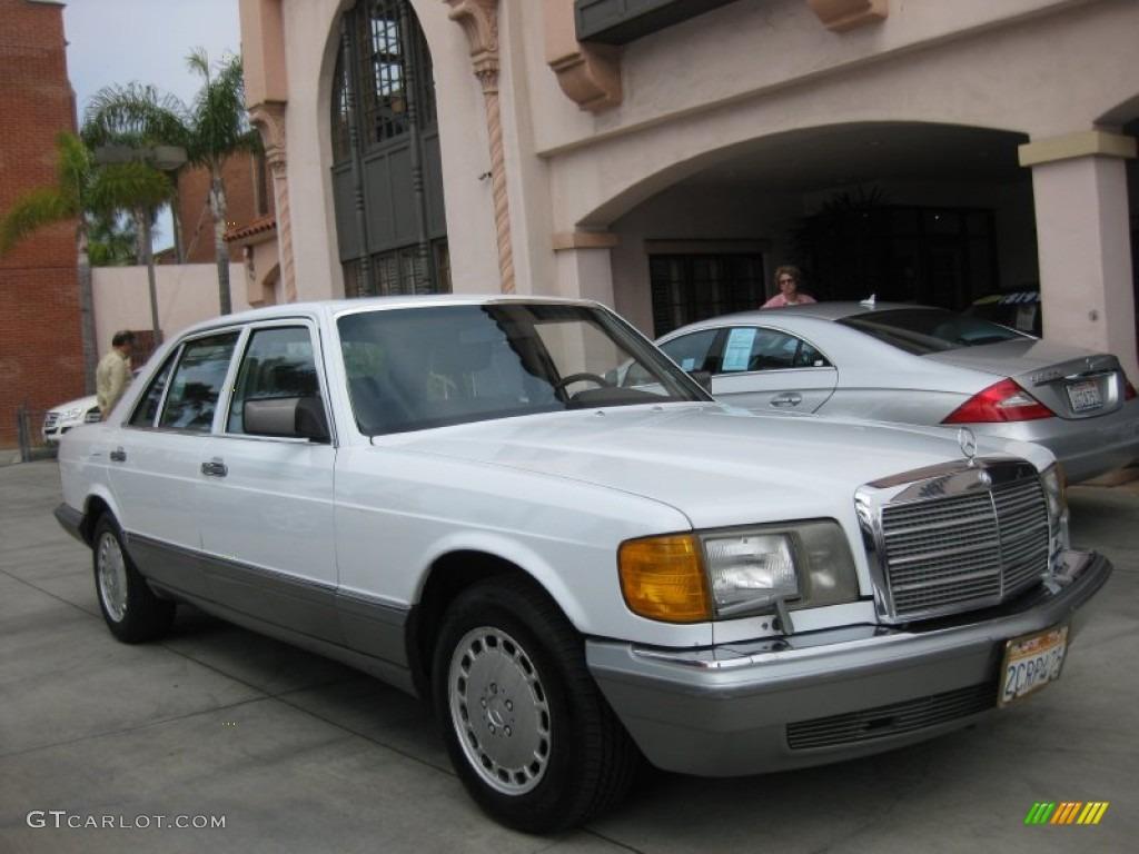 Arctic white 1986 mercedes benz s class 420 sel exterior for 1986 mercedes benz 300sdl