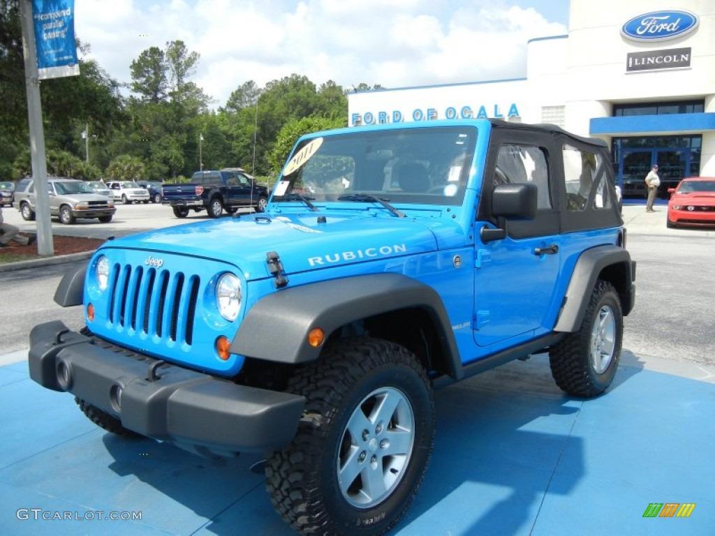 2011 Cosmos Blue Jeep Wrangler Rubicon 4x4 65970478 Gtcarlot Com