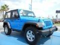 2011 Cosmos Blue Jeep Wrangler Rubicon 4x4  photo #7