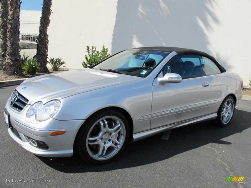 brilliant silver metallic 2005 mercedes benz clk 55 amg. Black Bedroom Furniture Sets. Home Design Ideas