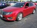 2011 Red Candy Metallic Ford Fusion Sport  photo #24