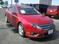 2011 Red Candy Metallic Ford Fusion Sport  photo #26