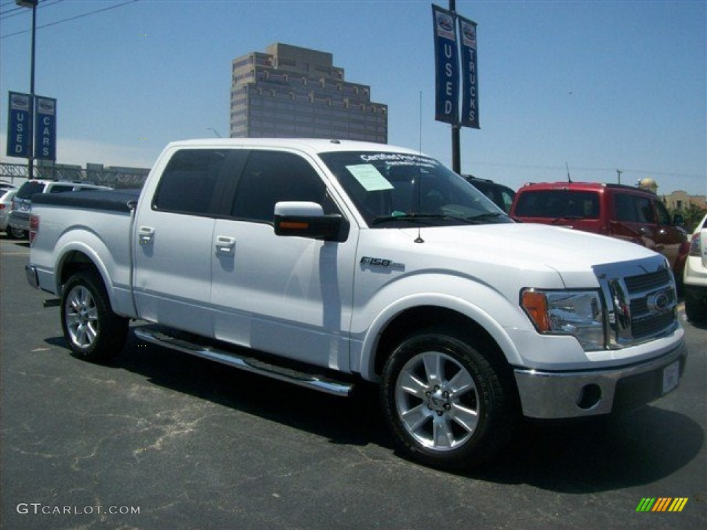 2009 oxford white ford f150 lariat supercrew 66043422 photo 9 car color galleries. Black Bedroom Furniture Sets. Home Design Ideas
