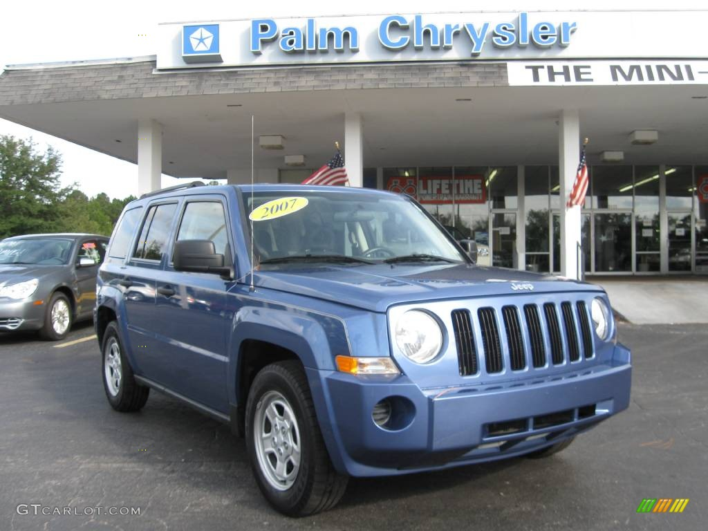 Marine blue pearl jeep patriot