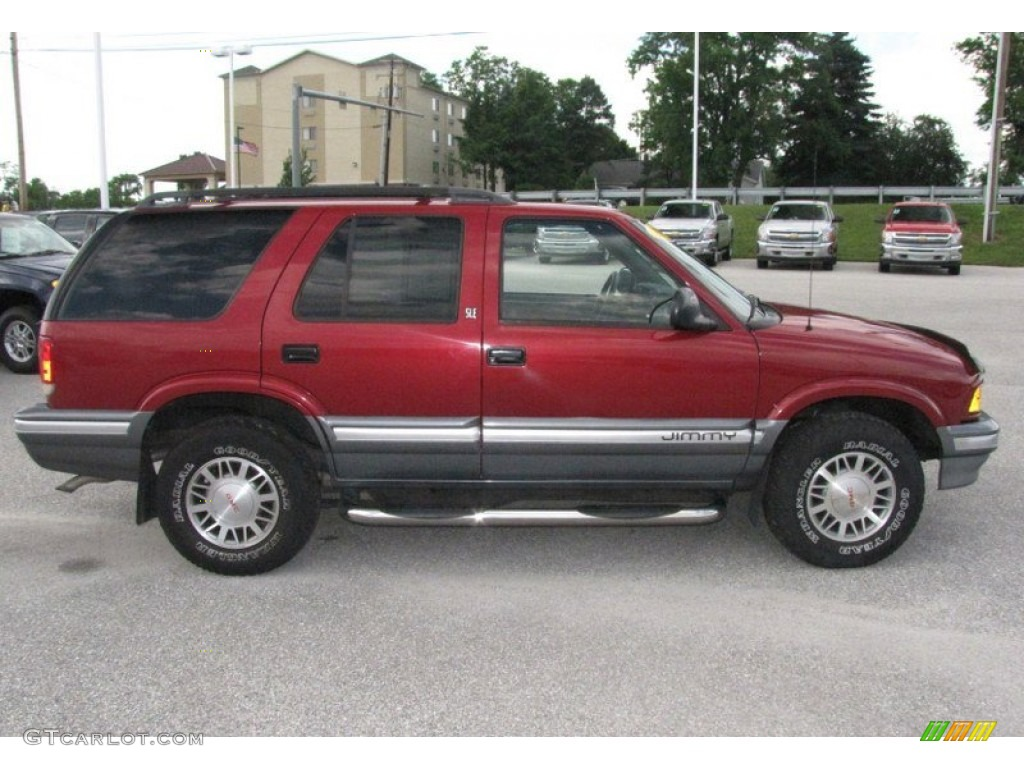 cherry red metallic 1997 gmc jimmy sle 4x4 exterior photo. Black Bedroom Furniture Sets. Home Design Ideas