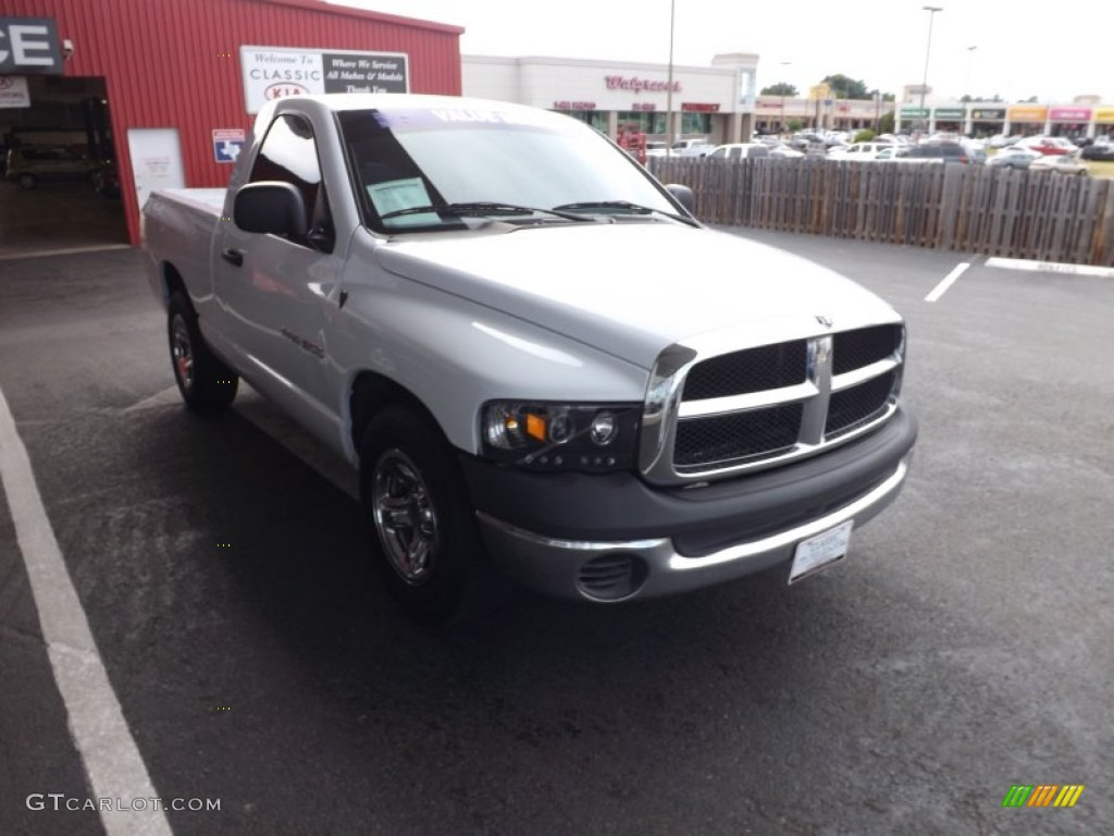 2002 Ram 1500 ST Regular Cab - Bright White / Dark Slate Gray photo #6