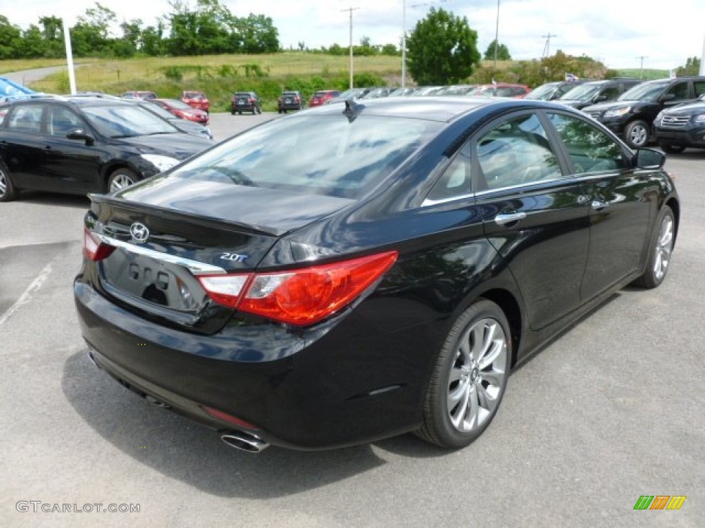 Midnight Black 2013 Hyundai Sonata Se 2 0t Exterior Photo