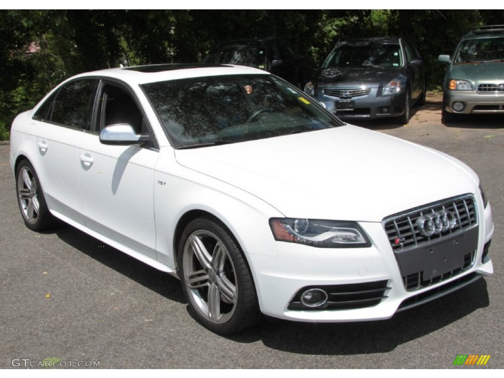 ibis white 2011 audi s4 3 0 quattro sedan exterior photo. Black Bedroom Furniture Sets. Home Design Ideas