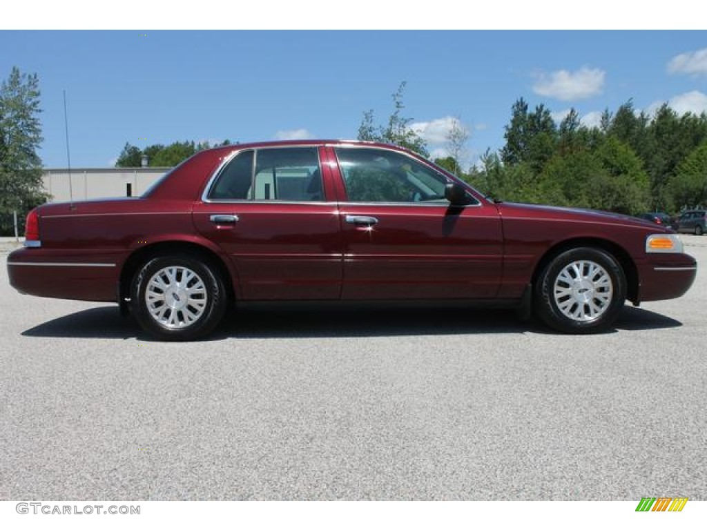 dark toreador red metallic 2005 ford crown victoria lx exterior photo 66111948. Black Bedroom Furniture Sets. Home Design Ideas