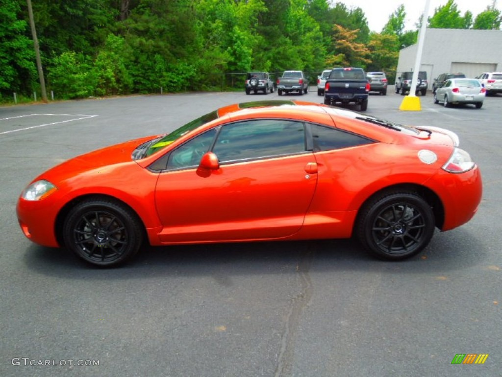 Sunset Orange Pearlescent 2008 Mitsubishi Eclipse GS Coupe Exterior Photo  #66117579
