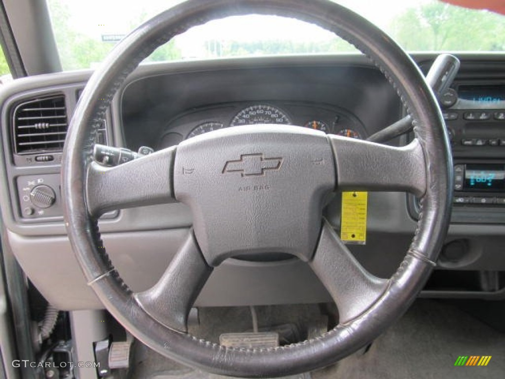 2006 Chevrolet Silverado 1500 Z71 Extended Cab 4x4 Dark Charcoal Steering Wheel Photo #66129347