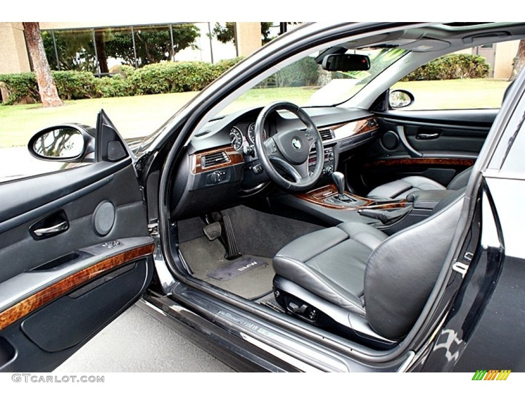 Black Interior 2007 BMW 3 Series 328i Coupe Photo #66131498
