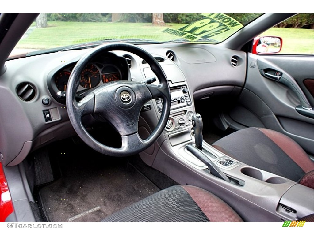 Black/Red Interior 2002 Toyota Celica GT Photo #66138645