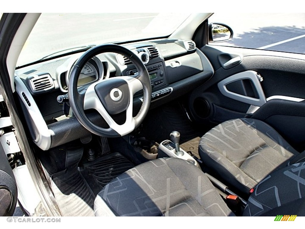 design black interior 2009 smart fortwo passion coupe photo 66146693. Black Bedroom Furniture Sets. Home Design Ideas