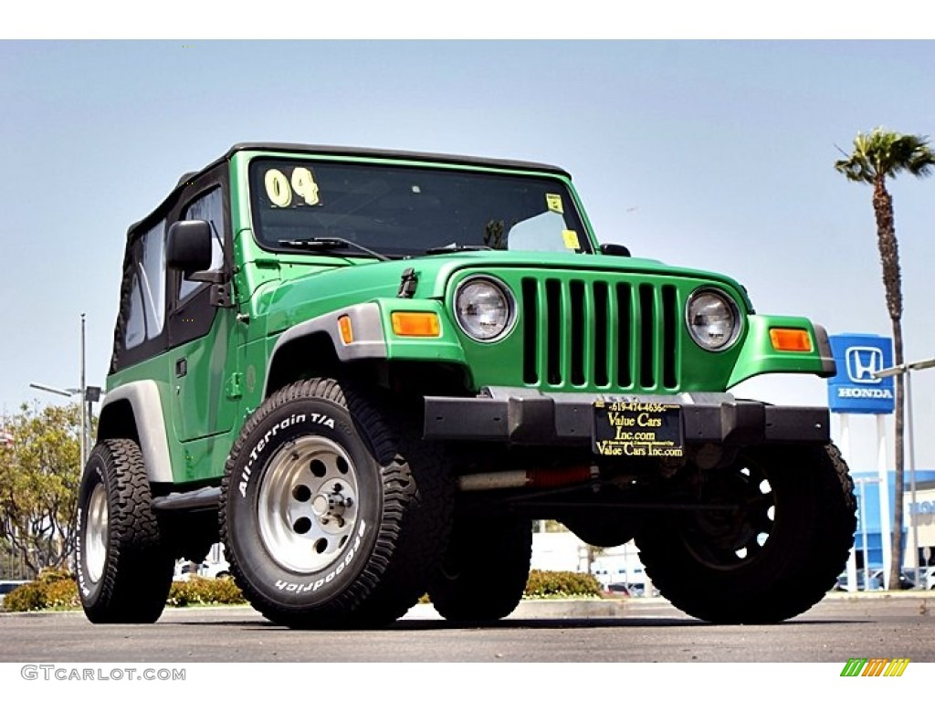 2004 electric lime green pearl jeep wrangler se 4x4 66122670 car color galleries. Black Bedroom Furniture Sets. Home Design Ideas