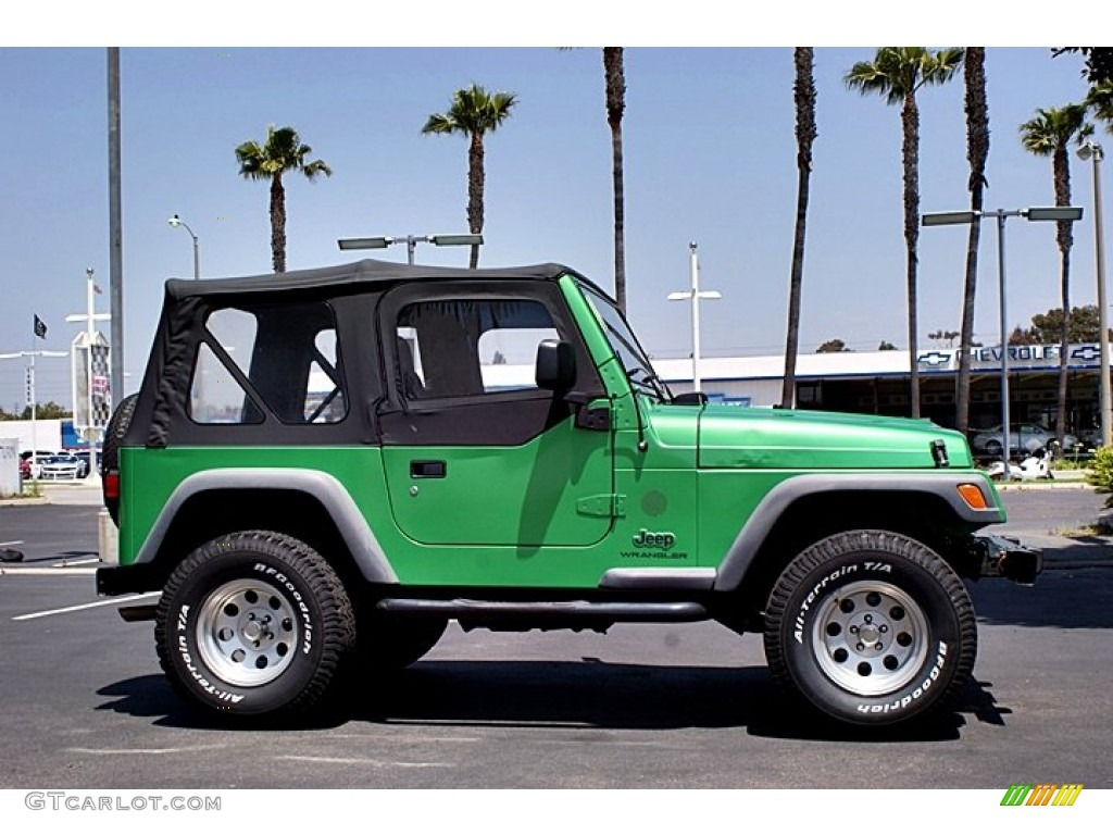 electric lime green pearl 2004 jeep wrangler se 4x4. Black Bedroom Furniture Sets. Home Design Ideas