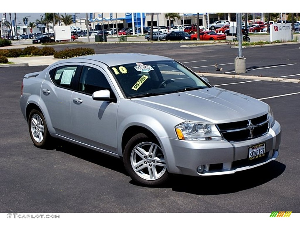 Bright Silver Metallic 2010 Dodge Avenger RT Exterior Photo