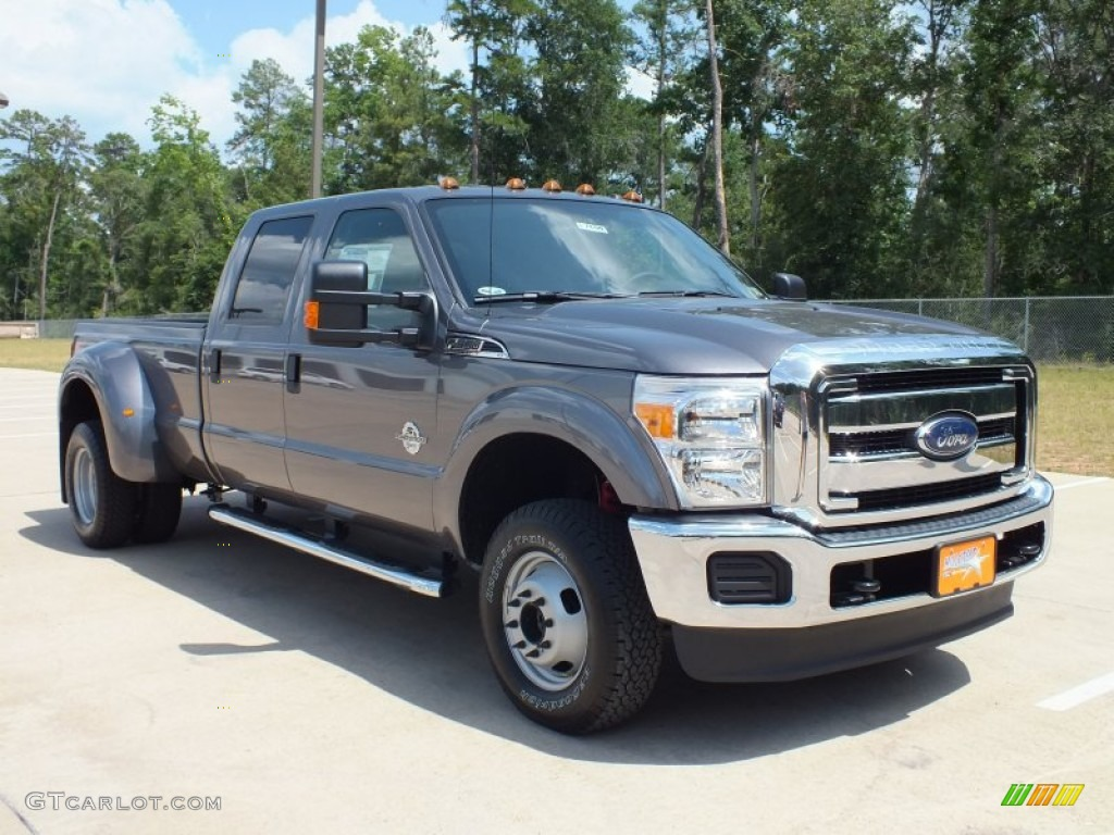2012 sterling grey metallic ford f350 super duty xlt crew cab 4x4 dually 66122637 gtcarlot. Black Bedroom Furniture Sets. Home Design Ideas