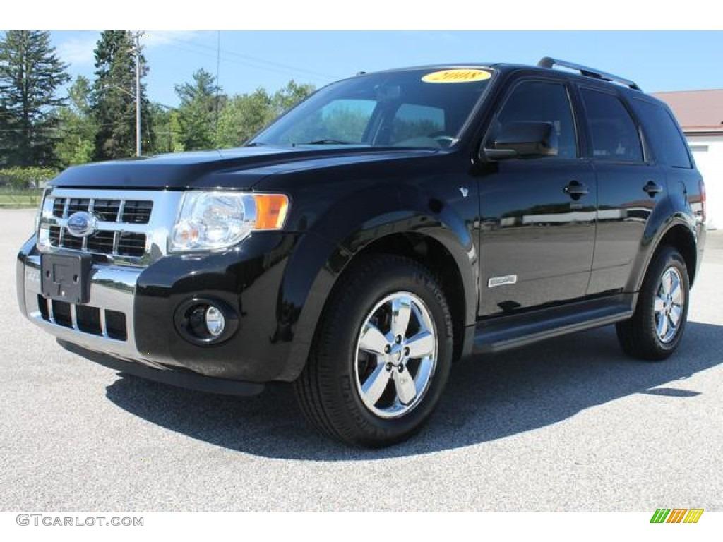 2008 black ford escape limited 66121617 car color galleries. Black Bedroom Furniture Sets. Home Design Ideas