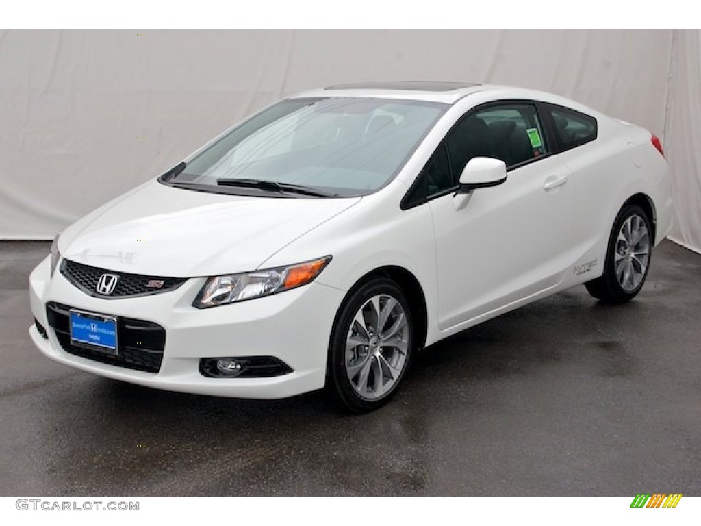 taffeta white 2012 honda civic si coupe exterior photo