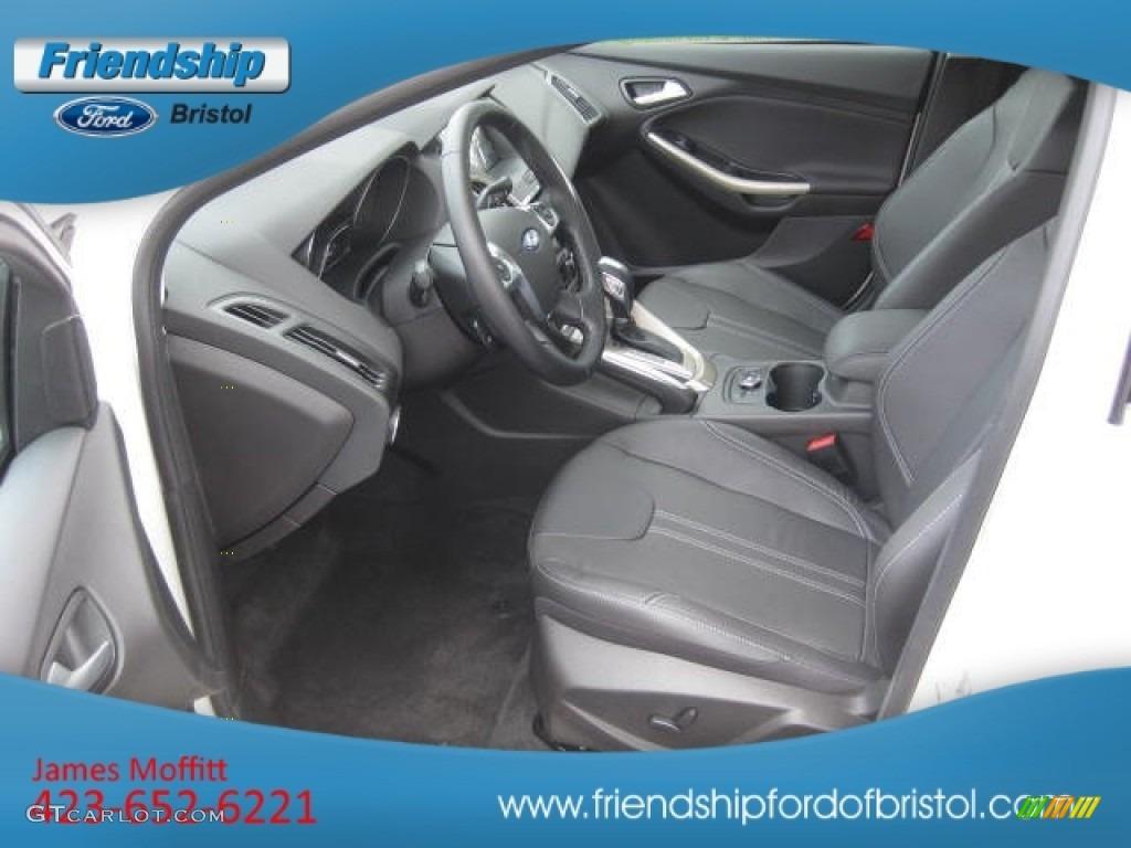 2012 Focus SEL Sedan - White Platinum Tricoat Metallic / Charcoal Black Leather photo #32