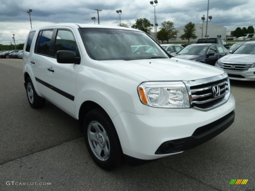 Taffeta White 2012 Honda Pilot Lx 4wd Exterior Photo