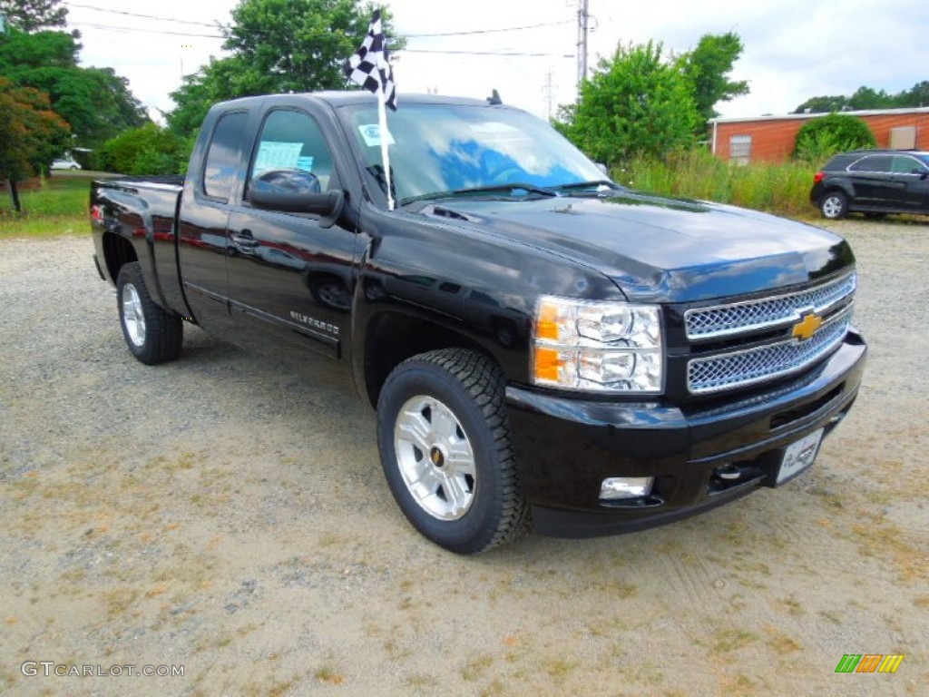 2012 Silverado 1500 LT Extended Cab 4x4 - Black / Ebony photo #1