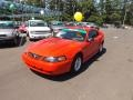 2001 Performance Red Ford Mustang V6 Coupe  photo #1
