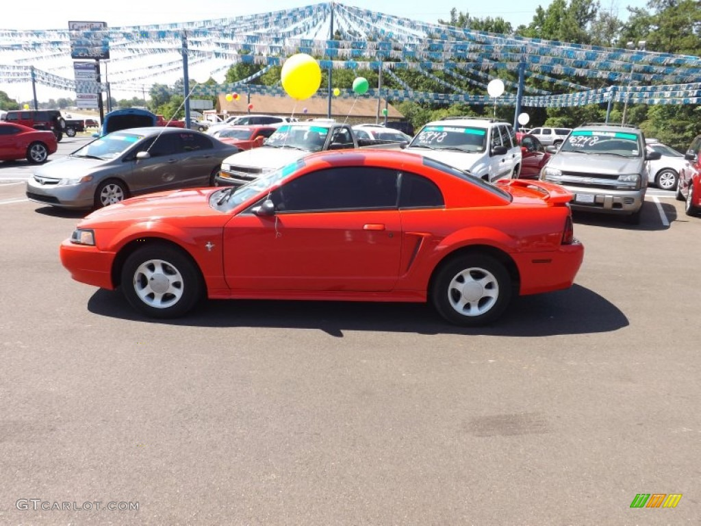 2001 Mustang V6 Coupe - Performance Red / Medium Parchment photo #2