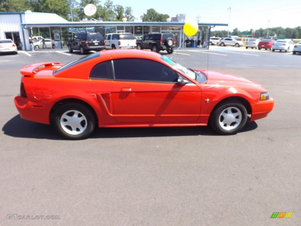 2001 Mustang V6 Coupe - Performance Red / Medium Parchment photo #6