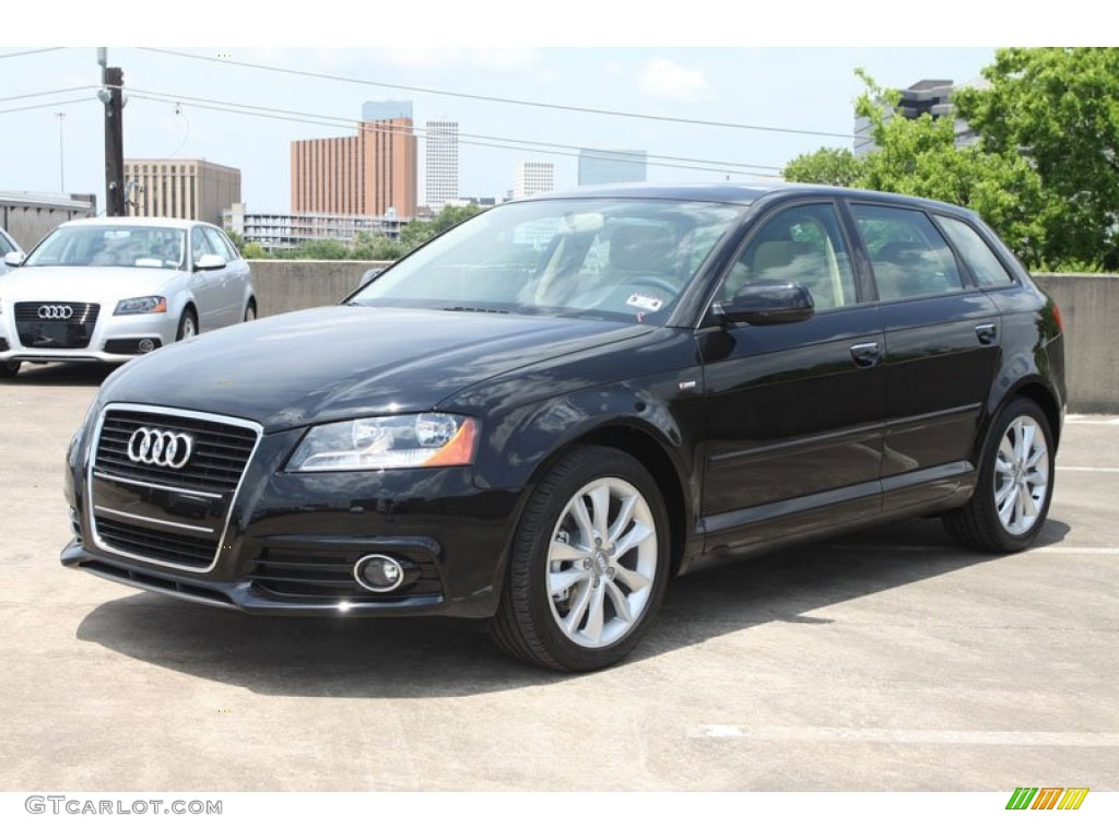 Brilliant Black 2012 Audi A3 2.0 TDI Exterior Photo ...