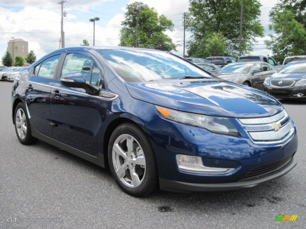 blue topaz metallic 2012 chevrolet volt hatchback exterior photo 66211894. Black Bedroom Furniture Sets. Home Design Ideas