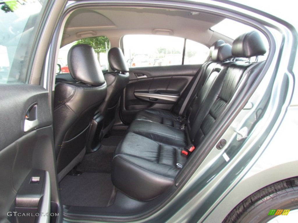 Black Interior 2009 Honda Accord Ex L V6 Sedan Photo