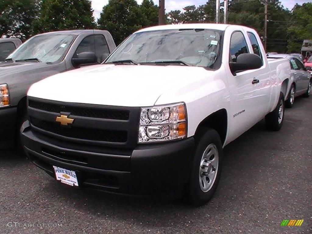 2012 Silverado 1500 Work Truck Extended Cab - Summit White / Dark Titanium photo #1