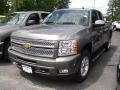 2012 Graystone Metallic Chevrolet Silverado 1500 LT Extended Cab  photo #1