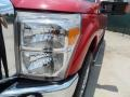 2012 Vermillion Red Ford F250 Super Duty Lariat Crew Cab 4x4  photo #9