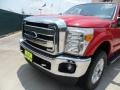 2012 Vermillion Red Ford F250 Super Duty Lariat Crew Cab 4x4  photo #10
