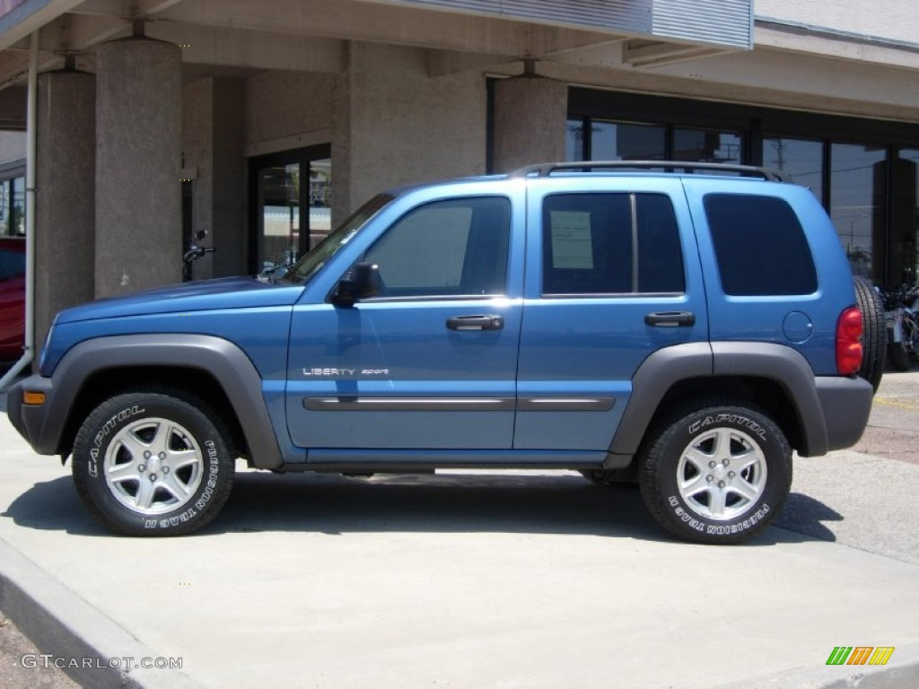 atlantic blue pearl 2003 jeep liberty sport 4x4 exterior photo