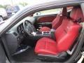 2012 Dodge Challenger Dark Slate Gray/Radar Red Interior Front Seat Photo