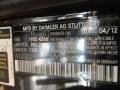 2012 SLS AMG Obsidian Black Metallic Color Code 197