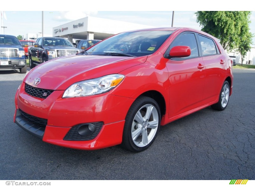 radiant red 2009 toyota matrix s exterior photo 66290511. Black Bedroom Furniture Sets. Home Design Ideas