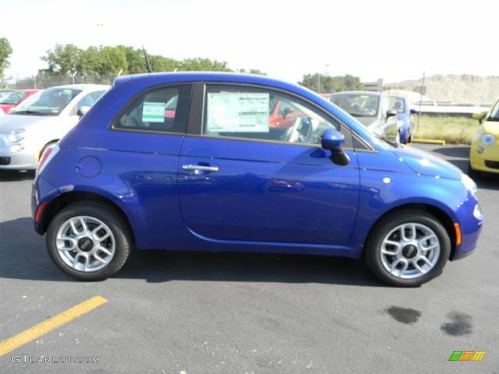 Azzurro Blue 2012 Fiat 500 Pop Exterior Photo 66303398