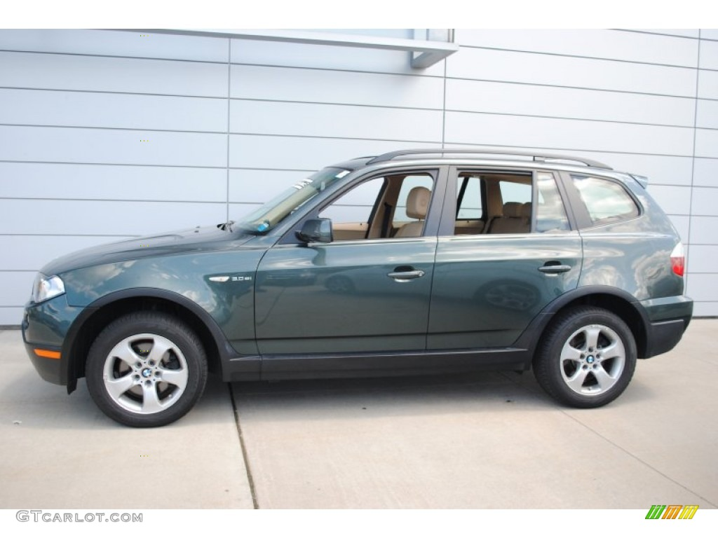 highland green metallic 2008 bmw x3 exterior photo. Black Bedroom Furniture Sets. Home Design Ideas