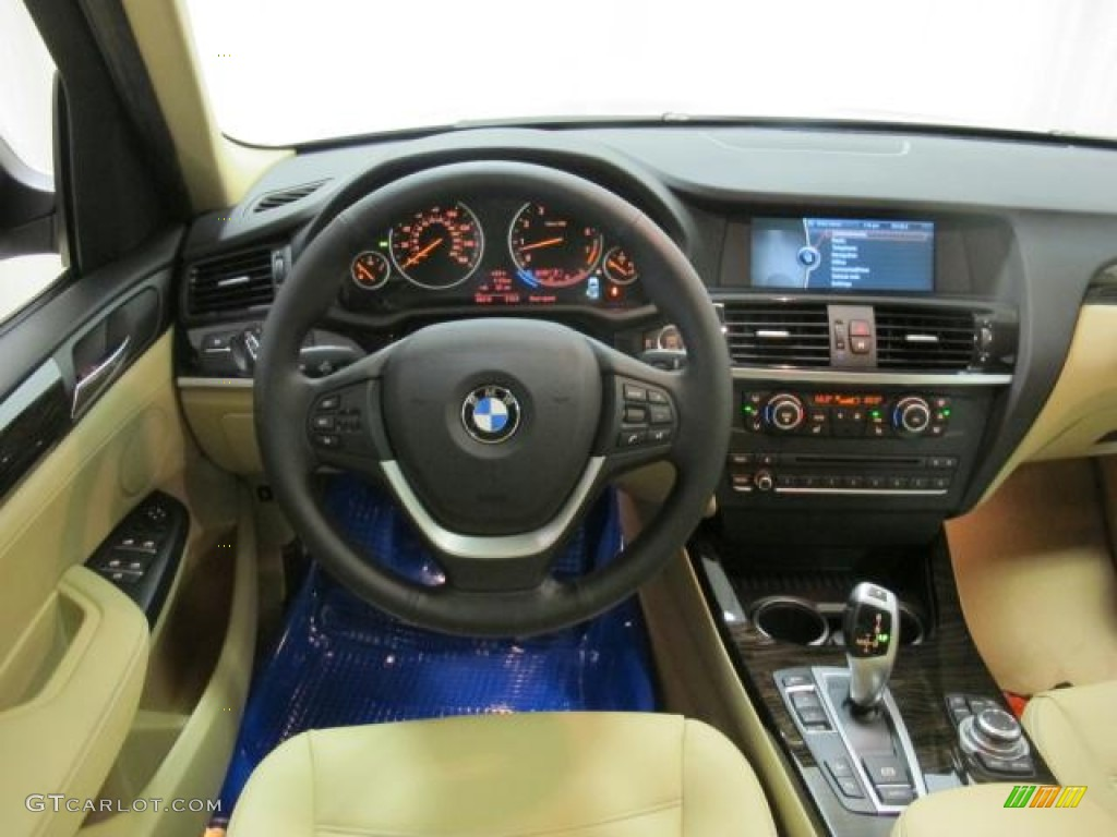 2013 Bmw X3 Xdrive 35i Sand Beige Dashboard Photo