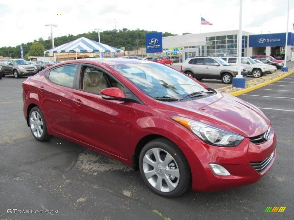 red allure 2013 hyundai elantra limited exterior photo. Black Bedroom Furniture Sets. Home Design Ideas