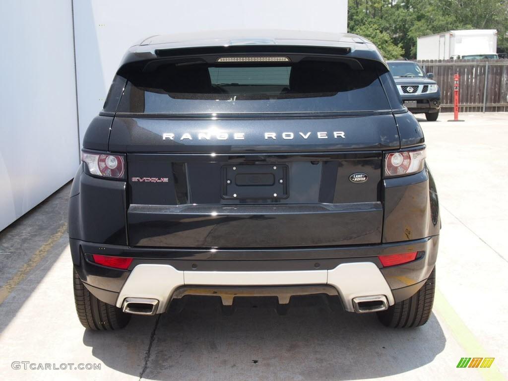 Sumatra Black Metallic 2012 Land Rover Range Rover Evoque Dynamic Exterior Photo 66336123