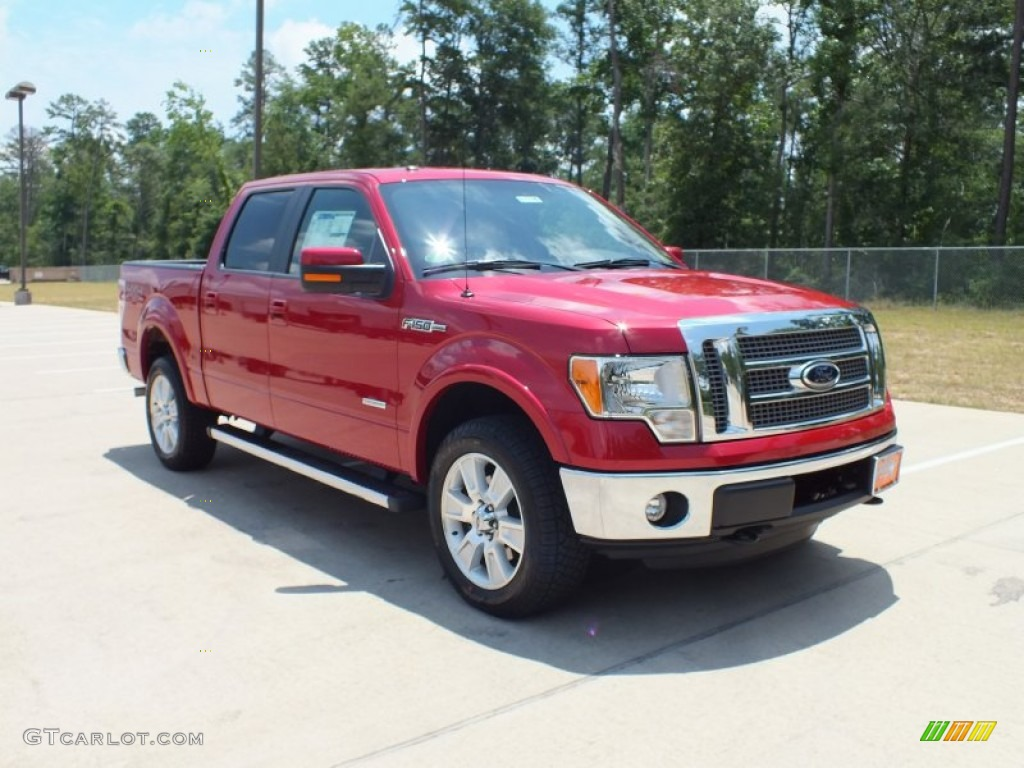 Red candy metallic ford f150 ford f150 lariat supercrew 4x4