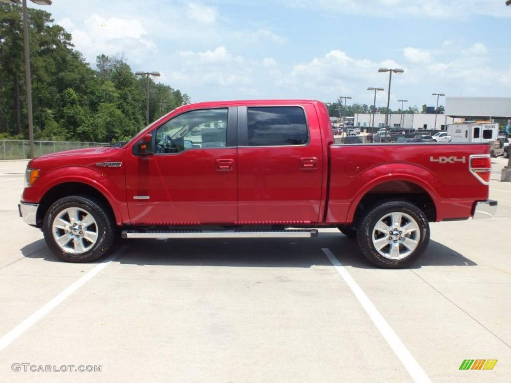 2012 red candy metallic ford f150 lariat supercrew 4x4 66338394 photo 8 car. Black Bedroom Furniture Sets. Home Design Ideas