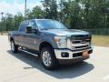 2012 Sterling Grey Metallic Ford F250 Super Duty Lariat Crew Cab 4x4  photo #1
