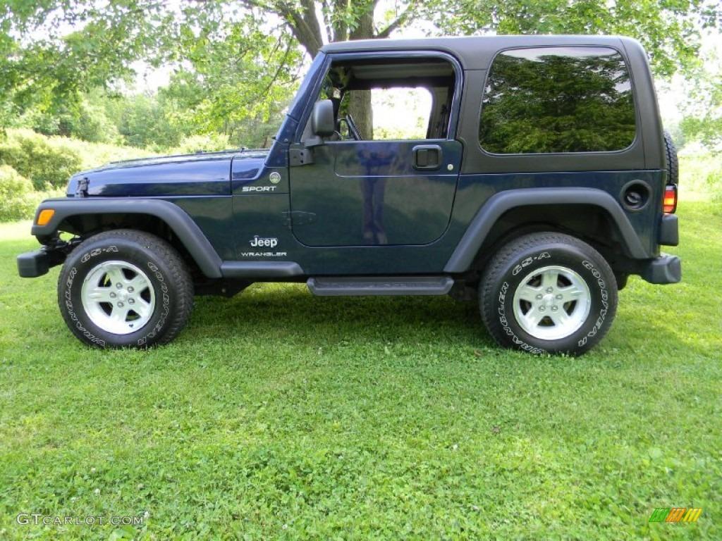Midnight Blue Pearl 2006 Jeep Wrangler Sport 4x4 Exterior Photo 66345389